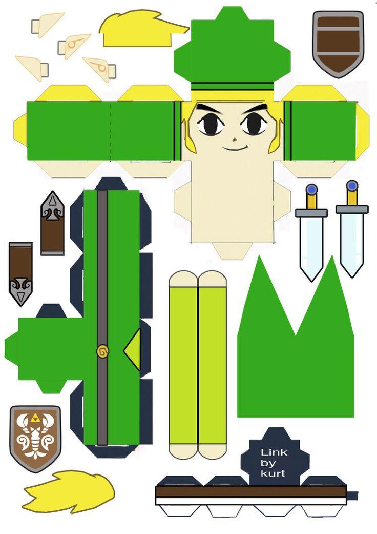 Papercraft Link Template Link Papercraft Template
