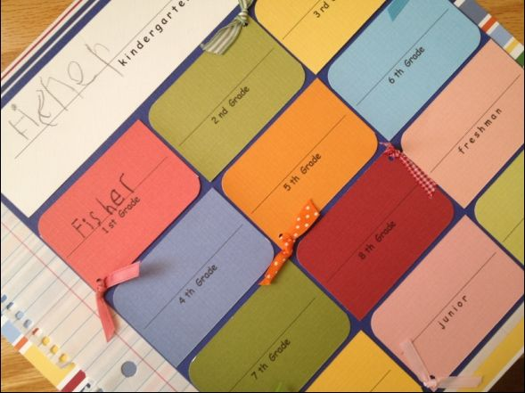 keep a sample of child's signature every school year...so sweet!