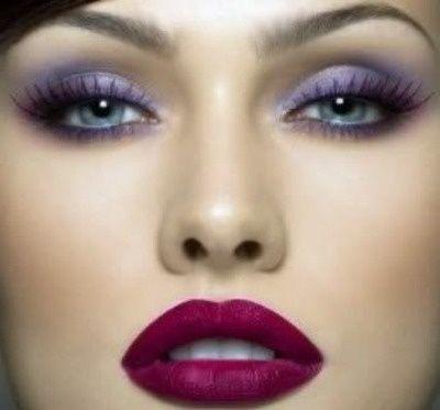 Dark Purple Bridal Makeup : lavender eyeshadow and dark berry lips Hair and Makeup ...