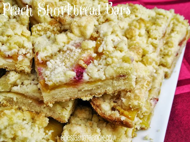 Peach Shortbread Bars | Get in my belly! | Pinterest