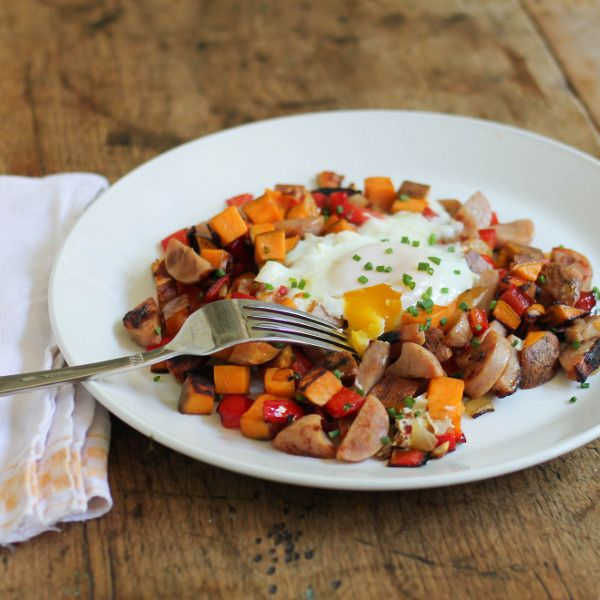Sweet Potato and Chicken Sausage Hash | Recipe