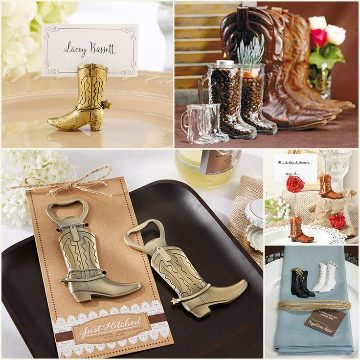 Cowboy Boot Wedding Favors from hotref.com
