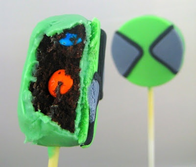 Ben 10 cake pops.... Make them out of Oreos with green Chocolate and fondant ??