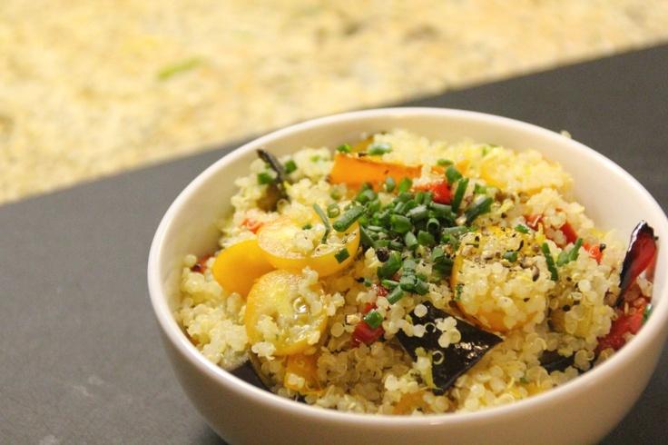 Roasted vegetable and quinoa salad | Recipes | Salad | Pinterest