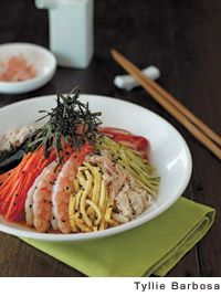 Chilled Crab and Shrimp Ramen Salad with Chukka-Soba Dressing