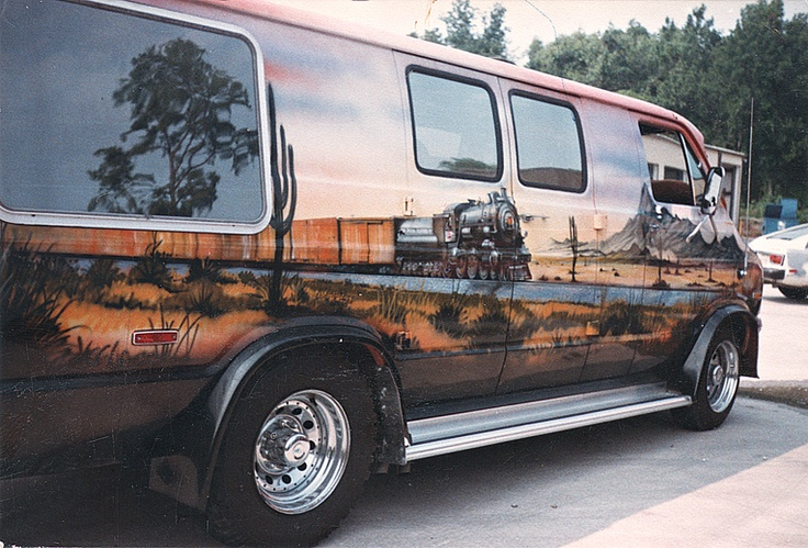 custom van mural vans of the 70 39 s pinterest
