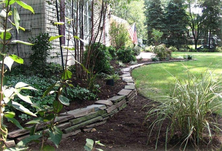 This stone edging garden wishes pinterest - Stone edging for garden beds ...
