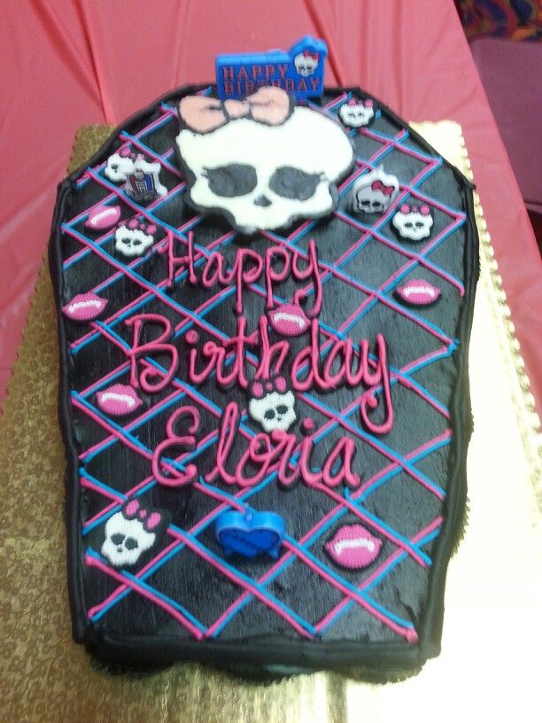 Pin coffin shape cake on pinterest for Coffin cake template