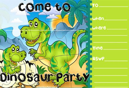 Dinosaur Birthday Party Invitations for your inspiration to make invitation template look beautiful