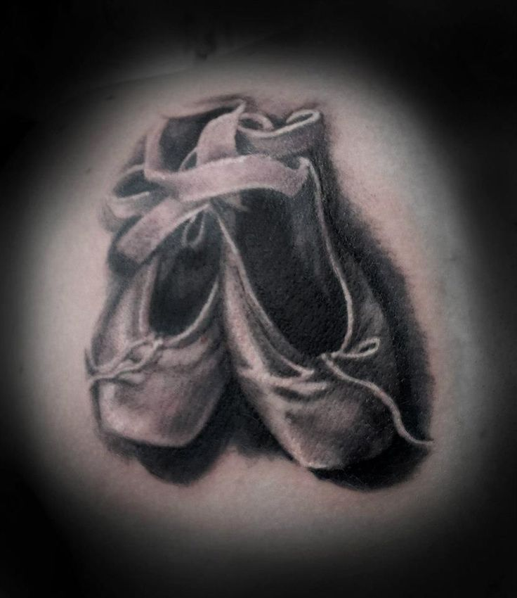 ballet shoes tattoo realism adam cooley pinterest. Black Bedroom Furniture Sets. Home Design Ideas