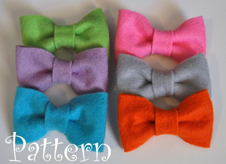 Felt Bow Tie Pattern Tutorial with Printable Templates 3 Bow Styles I ...