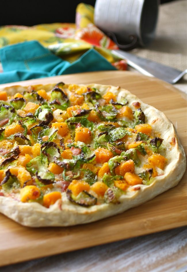 ... pizza! Brussels Sprouts, Butternut Squash, and Pancetta Pizza