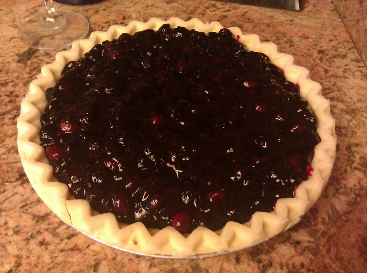 Cranberry & Wild Blueberry Pie | Hot Dog! It's my Food Blog! | Pinter...