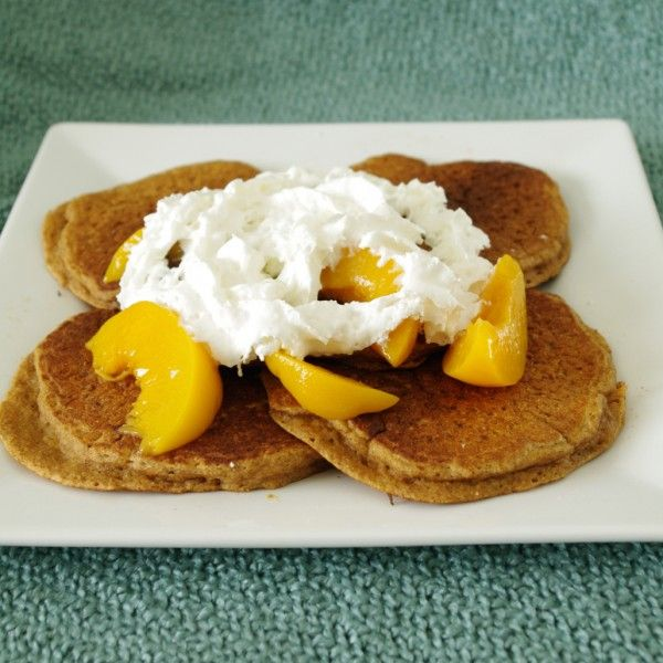 Whole Grain Peach Pancakes | Grain Mill Wagon Challenge | Pinterest