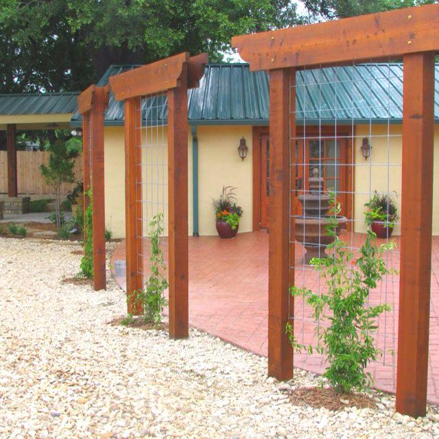 Trellis as screen Gardening Ideas Pinterest