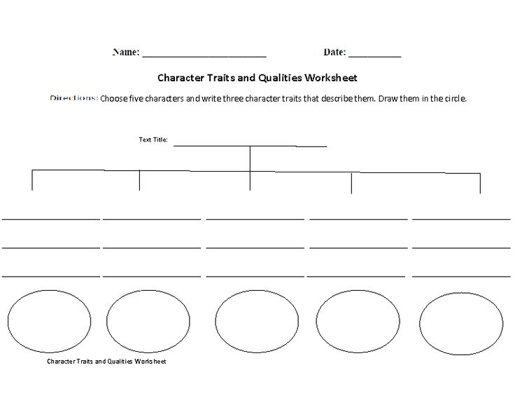 character traits and qualities worksheet reading ideas pinterest. Black Bedroom Furniture Sets. Home Design Ideas