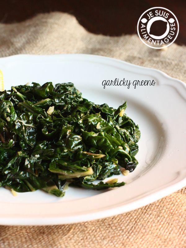 Garlicky Greens - Je suis alimentageuse