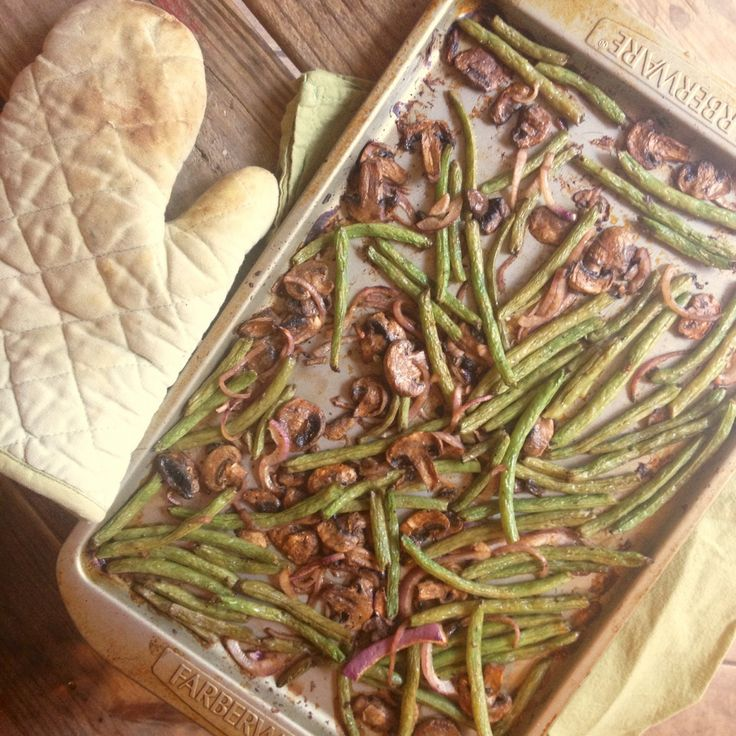 Roasted Green Beans with Mushrooms & Red Onion (1 Point Plus Value for ...
