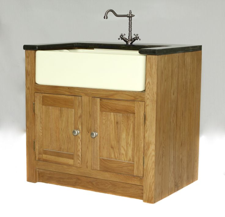 ... - Popular double butler sink unit. Freestanding Kitchen Units