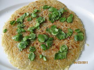 Potato and Leek Galette with Watercress. Instead of hash browns.