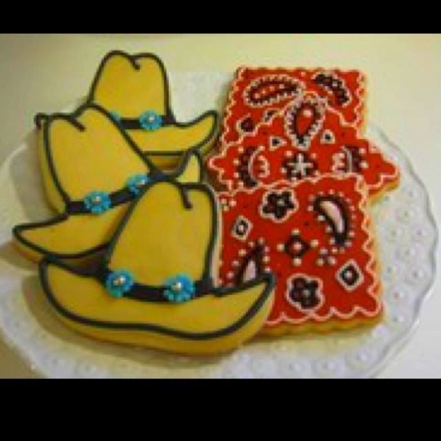 Cowboy cookies | Party Ideas~Cake, Cupcakes & Cookie | Pinterest