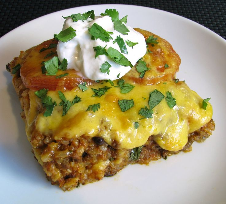 mexican casserole spicy green chile mexican casserole with ground beef ...