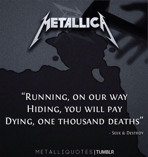 Best Metallica Quotes. QuotesGram