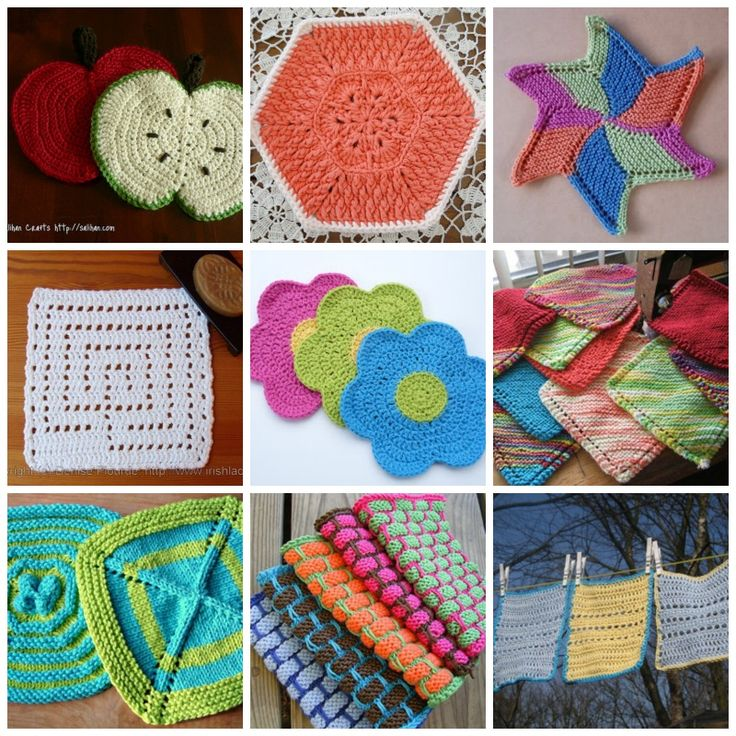Crochet Knitting : Free dishcloths tutorials - knit + crochet designs
