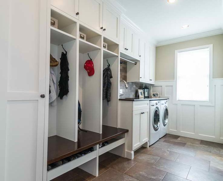 Laundry room mudroom house design pinterest for House plans with mudroom and laundry room