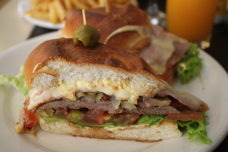 Chivito, traditional Uruguayan sandwich I eat one the moment I land my ...