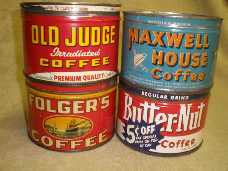 Coffee cans collectible vintage cans pinterest - What are coffee cans made of ...