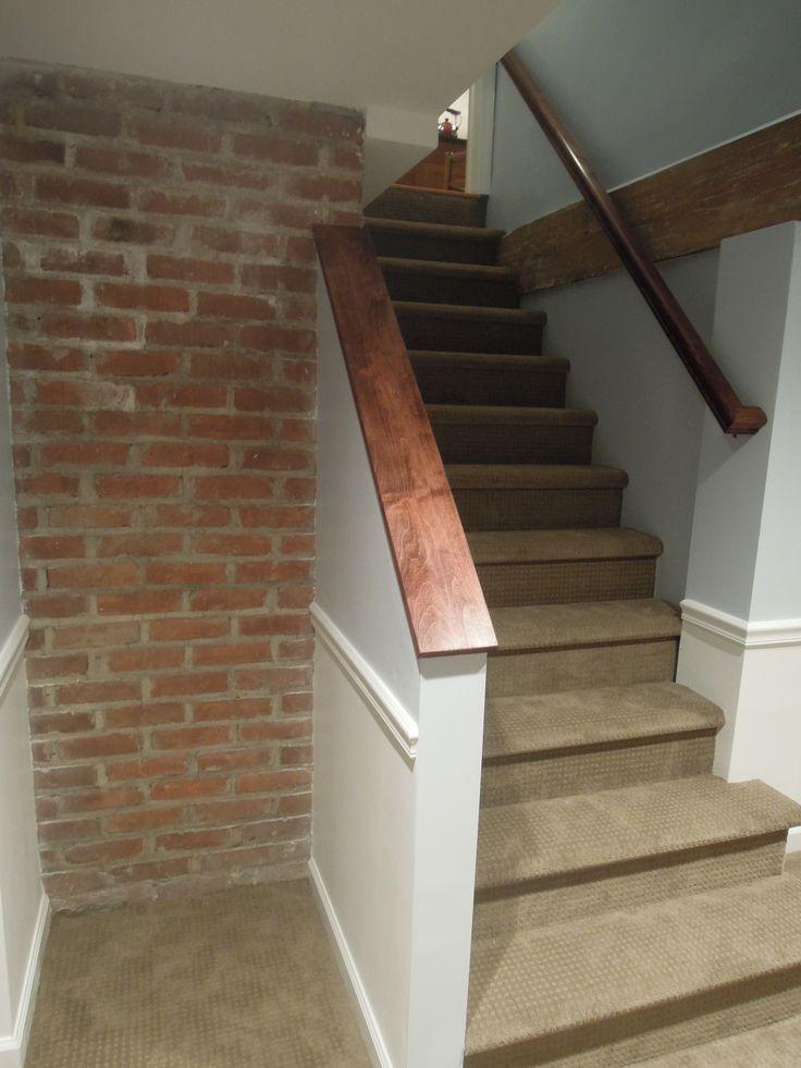 basement stairs finishing ideas finished basement stairs