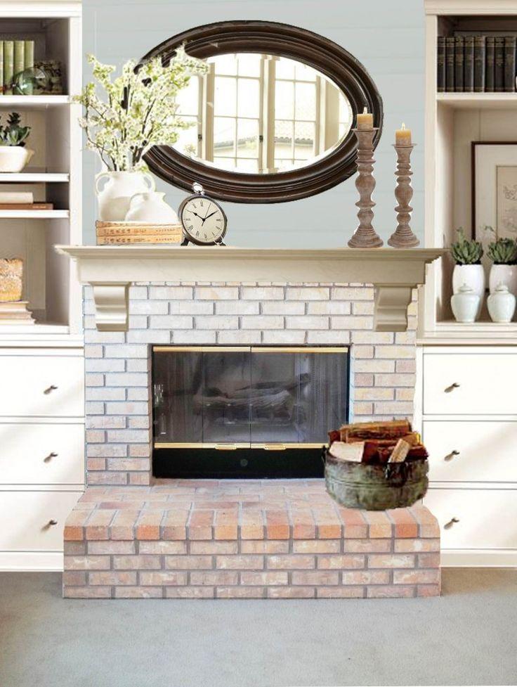 red brick fireplace makeover fireplace pinterest