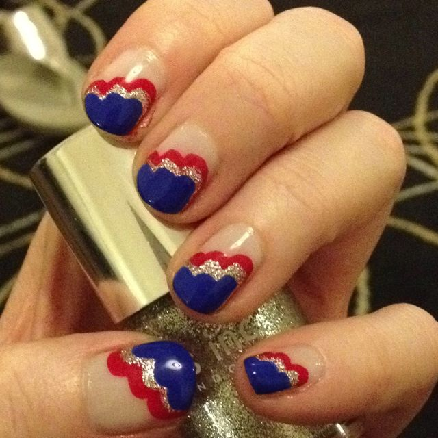 cute fourth of july nails