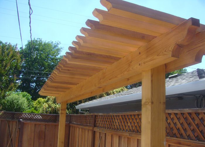 Half pergola google search deck and yard pinterest for Half deck house designs