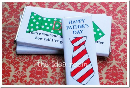 Fathers day candy bars