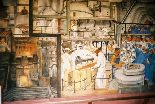 Pin by elizabeth della pella on old news pinterest for Coit tower mural artists