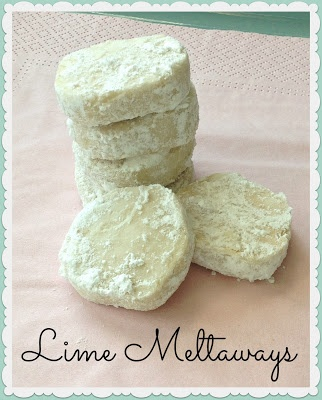 Lime Meltaways. Easy to make. Not very sweet but fantastic lime flavor ...