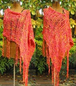 ASYMMETRICAL PONCHO CROCHET PATTERN « FREE Knitting PATTERNS