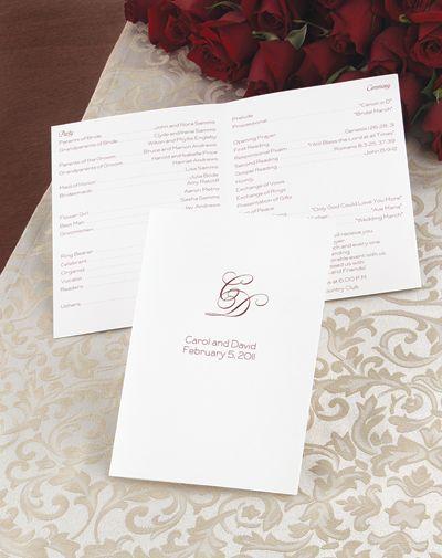 Create Your Own Wedding Program