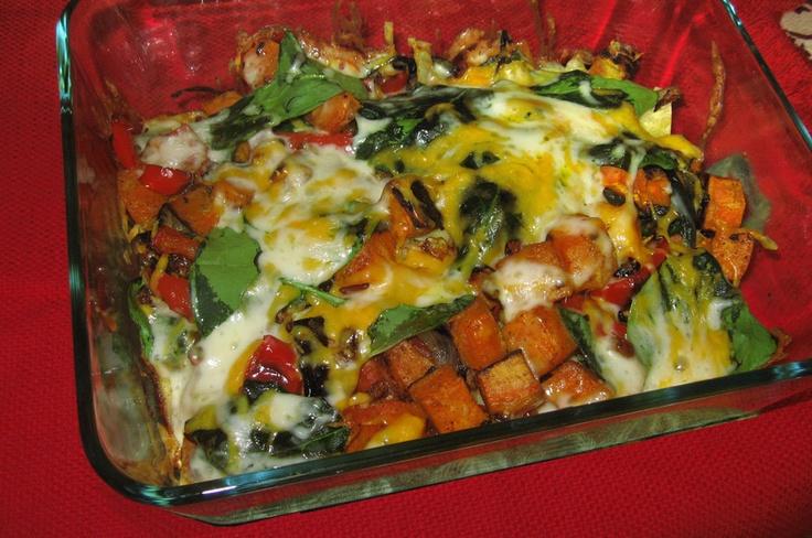 Stacked Roasted Vegetable Enchiladas | Vegetable/Side Dishes | Pinter ...
