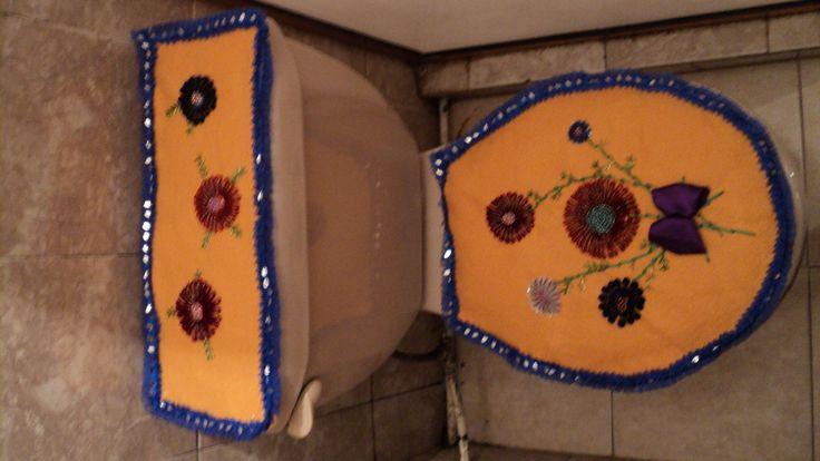 Juegos De Baño Liston:viste tu baño con este juego de baño bordado en pedreria y liston