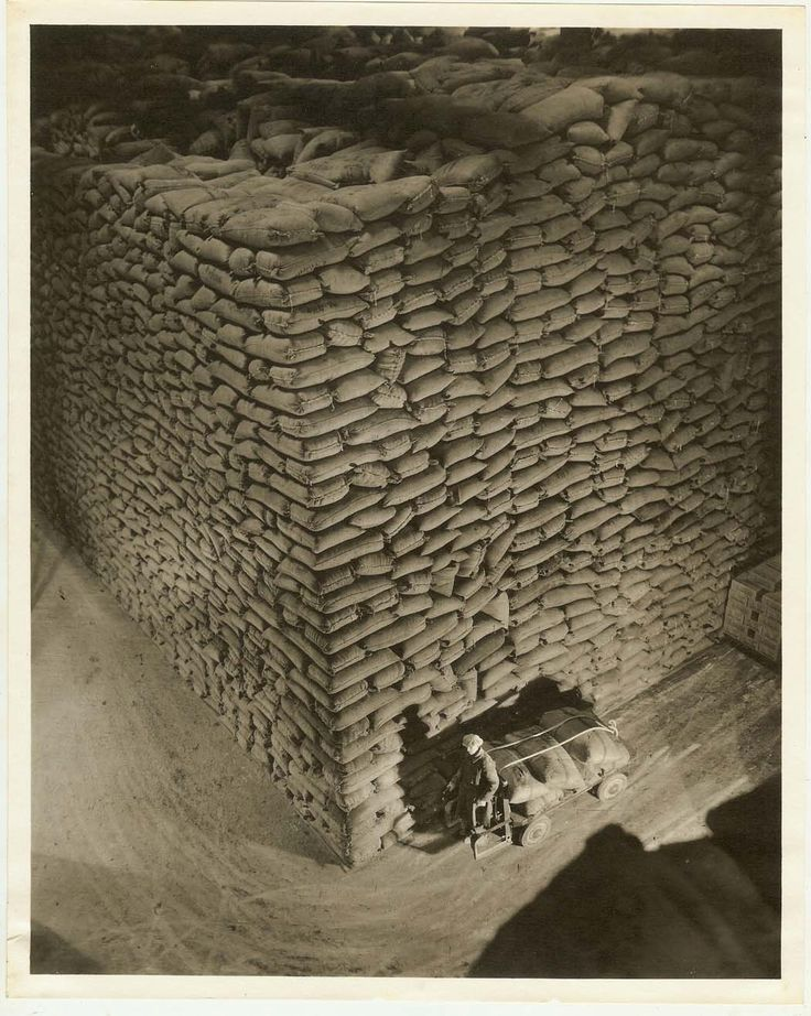 Harold Haliday Costain   Stack of Sugar Sacks, 1933