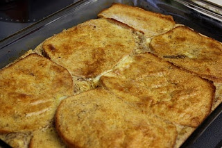 ... by Necessity: What to do with leftover egg nog: Egg Nog French Toast