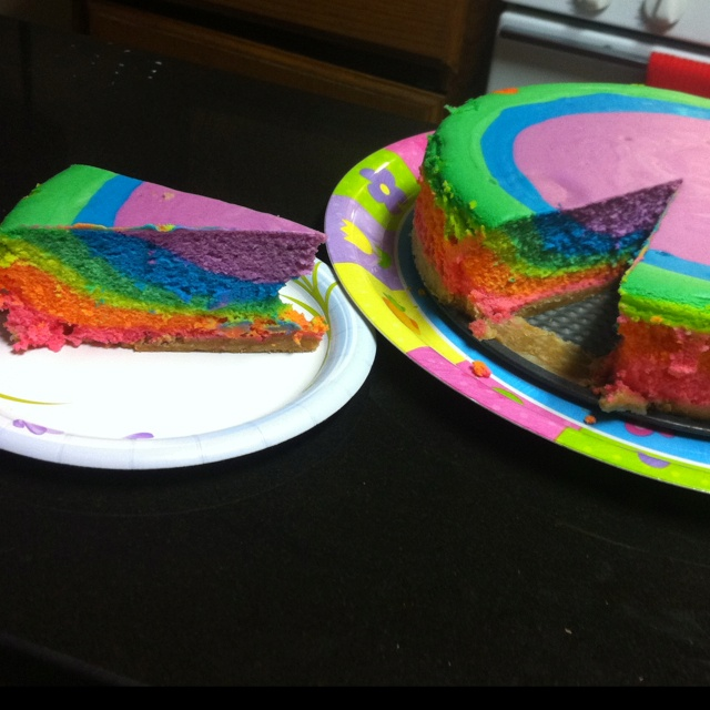 Rainbow cheesecake! | Num nums | Pinterest