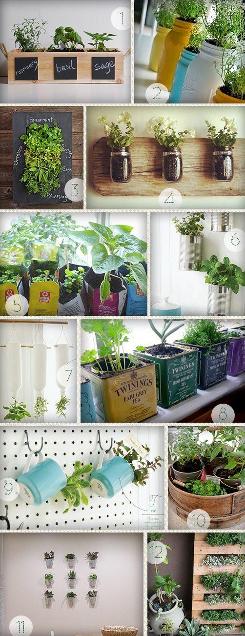 MoreDesignPlease Indoor Herb Gardens DIY projects
