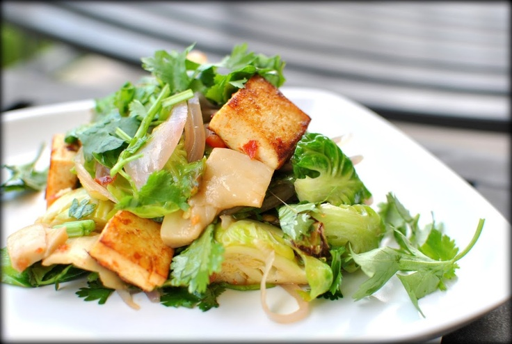tofu and roasted brussel sprouts | For the love of 'fu | Pinterest