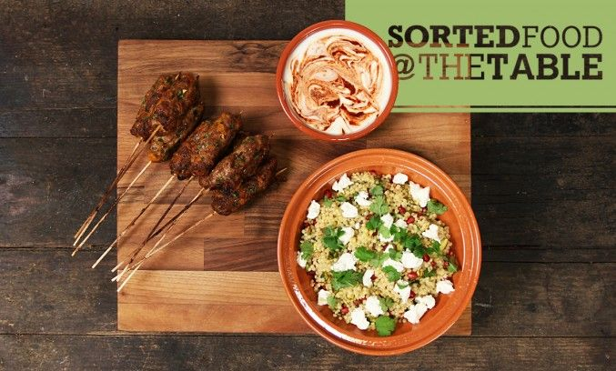SORTED - Lamb Kebabs with Giant Couscous | Food: Sorted Website | Pin ...