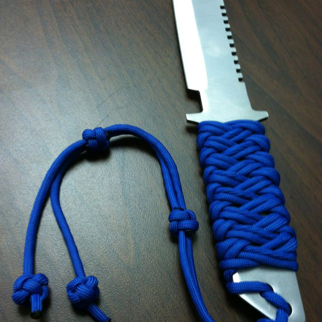 paracord knife handle wrap survival gear outdoor gear