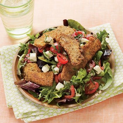 Chicken Parmesan Salad~ crispy chicken tenders ~ make them the star of ...